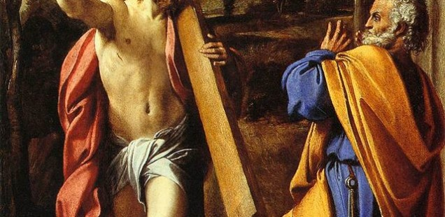 Annibale Carracci (1560–1609) Domine quo vadis? https://commons.wikimedia.org/wiki/File:Annibale_Carracci_-_Domine_quo_vadis%3F_-_WGA04444.jpg