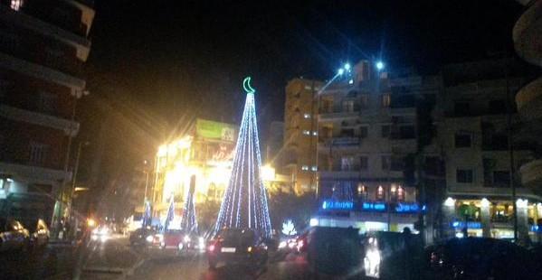 Muslimischer Christbaum in Tripoli