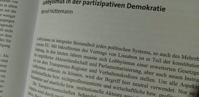 Lobbyismus in der partizipativen EU-Demokratie